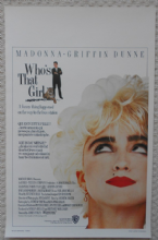 Who's That Girl, Original Belgian Movie Poster, Madonna, Griffin Dunne, '87